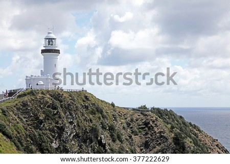 Lighthouse on Cape Byron, New South Wales, Australia - stock photo