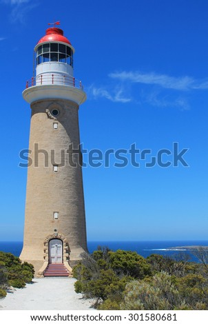 Lighthouse on Cape du Couedic, Kangaroo Island, South Australia - stock photo