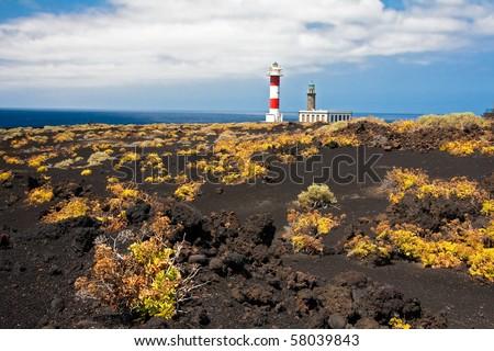 Lighthouse on La Palma, Canary Islands - stock photo