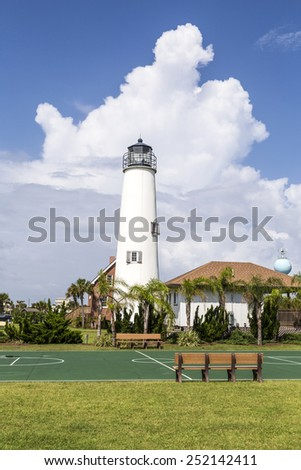 Lighthouse on St. George Island near Apalachicola, Florida, USA