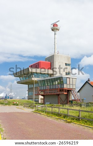 Lighthouse on the coast of the netherlands