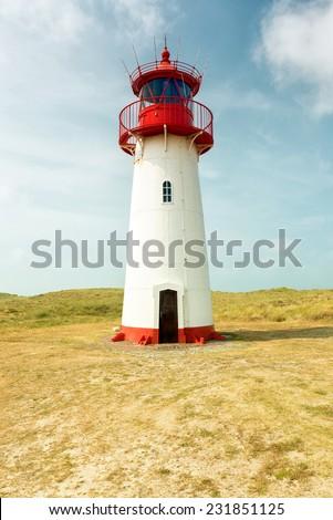 Lighthouse on the island Sylt, Germany - stock photo