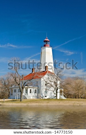 Lighthouse on waters edge