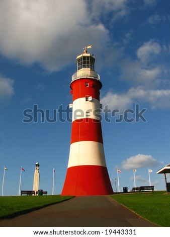 Lighthouse Plymouth, UK - stock photo