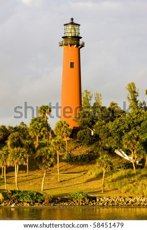 lighthouse, Ponce Inlet, Florida, USA - stock photo