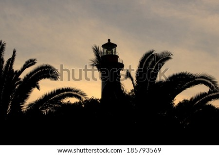 Lighthouse Silhouette - stock photo