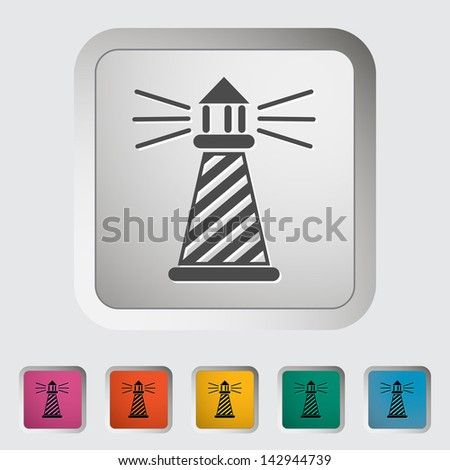 Lighthouse. Single icon. Vector version also available in my portfolio. - stock photo