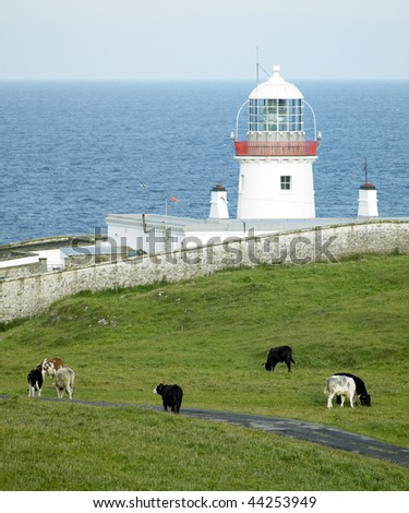 lighthouse, St. John's Point, County Donegal, Ireland - stock photo