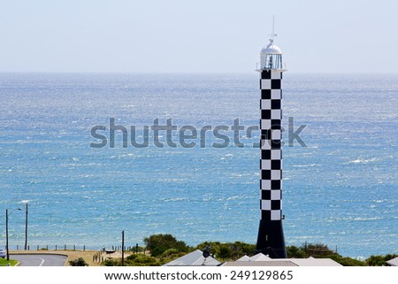 Lighthouse summer landscape in Bunbury Western Australia - stock photo