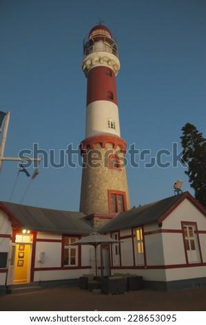 Lighthouse, Swakopmund, Namibia, Africa - stock photo
