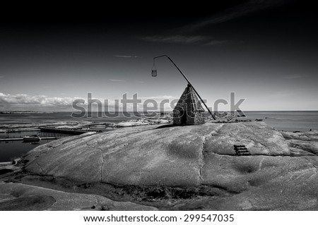 Lighthouse Verdens Ende, Norway - stock photo