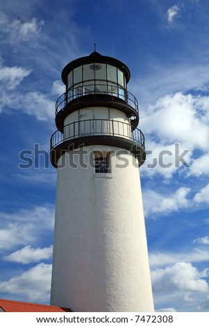 Lighthouse with clouds in background