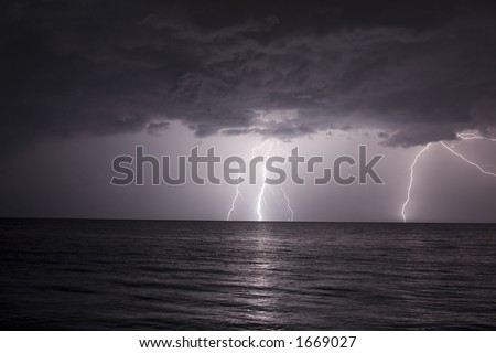 lighting bolt storm in MontegoBay Jamaica