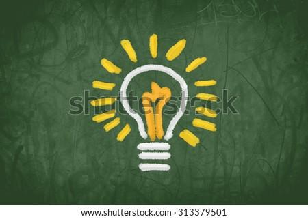 lighting bulb, idea concept - stock photo