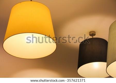 Lighting decor on ceiling - stock photo
