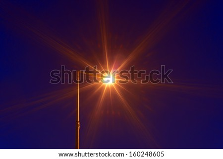 lighting equipment in street - stock photo