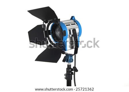 Lighting equipment , Isolated on white. - stock photo