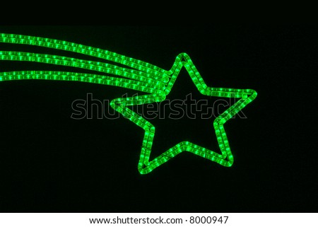 lighting falling-star - stock photo