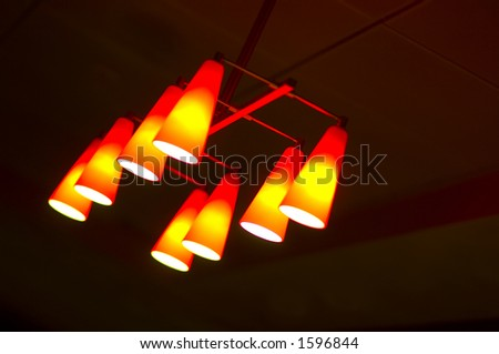 lighting fixture in lobby of hotel