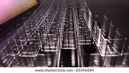 Lighting Keyboard - stock photo