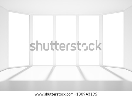 lighting room with big window - stock photo