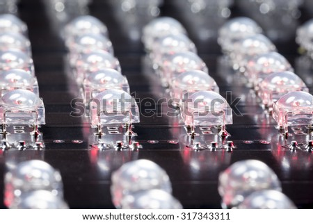 Lighting solutions with superFLUX LED -small DOF - stock photo
