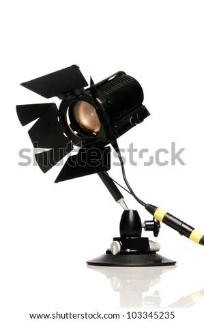 Lighting studio equipment for shooting movie and photography. - stock photo