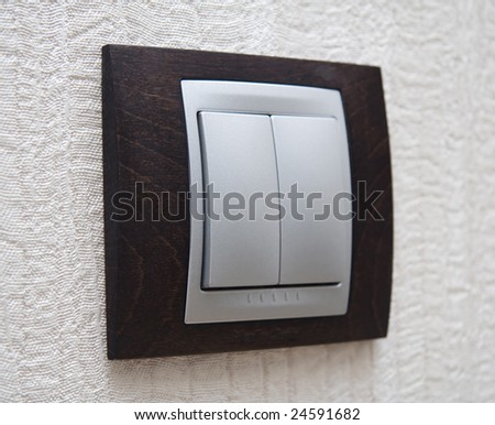lighting switch - stock photo