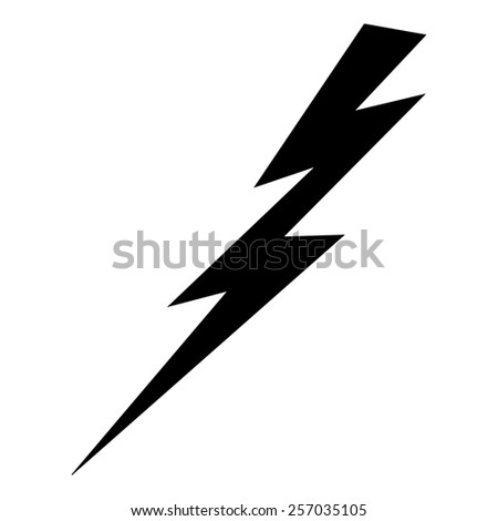 lightning and electricity icon - stock photo