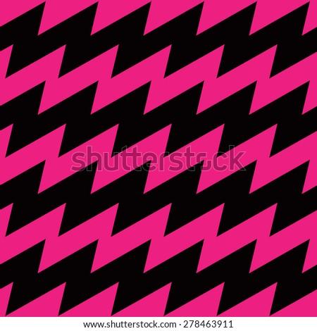 Lightning Bolt Zigzag Pattern with alternating stripes repeats seamlessly. - stock photo