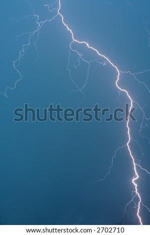 Lightning during thunderstorm