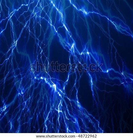 lightning flash on a dark blue background