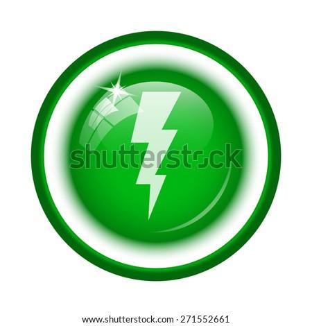 Lightning icon. Internet button on white background.  - stock photo