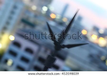 lightning prevention pole - stock photo