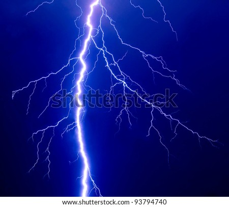 Lightning sky - stock photo