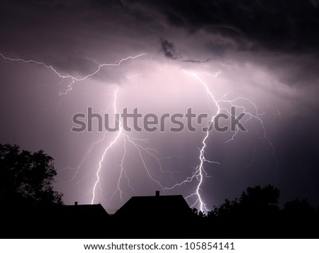 lightning strikes in the darkness