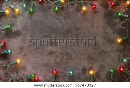 lights and board - stock photo
