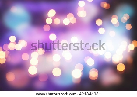 lights background:blur of Christmas wallpaper decorations concept.holiday festival backdrop:sparkle circle lit celebrations display. - stock photo