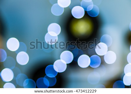 Lights blurred bokeh abstract background