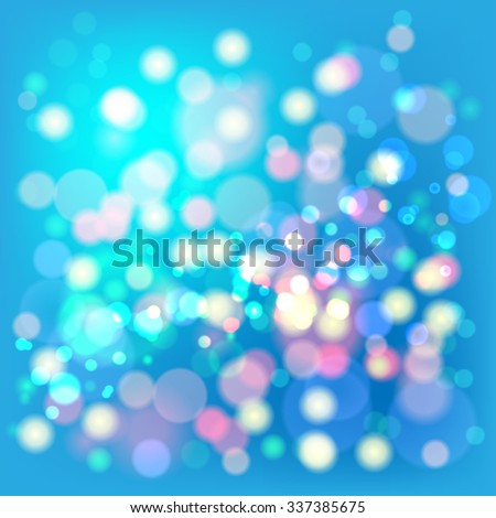 Lights Boke Blur Background. Illustration  - stock photo