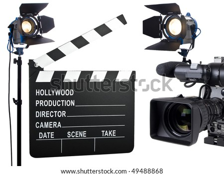 Lights, Camera, Action - stock photo