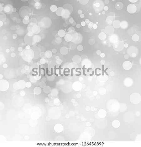 Lights, flare and snow on gray background - stock photo