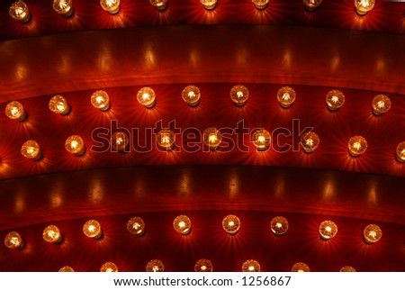 Lights in a circus - stock photo
