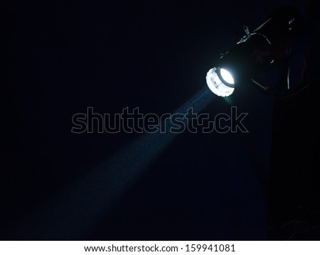 Lights in a circus. Darkness - stock photo