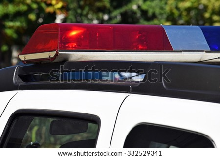 Lights of the police car - stock photo