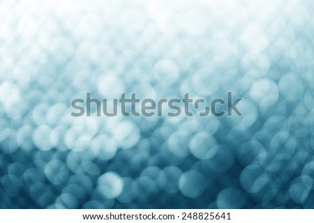 Lights on blue background. - stock photo