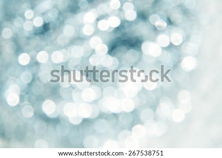 Lights on blue background - stock photo