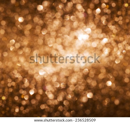 Lights on gold background. - stock photo