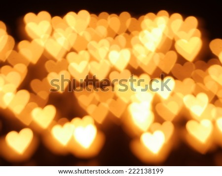 lights with candle and hearts - stock photo