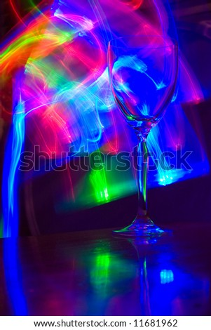 Lightstick and wineglass - stock photo
